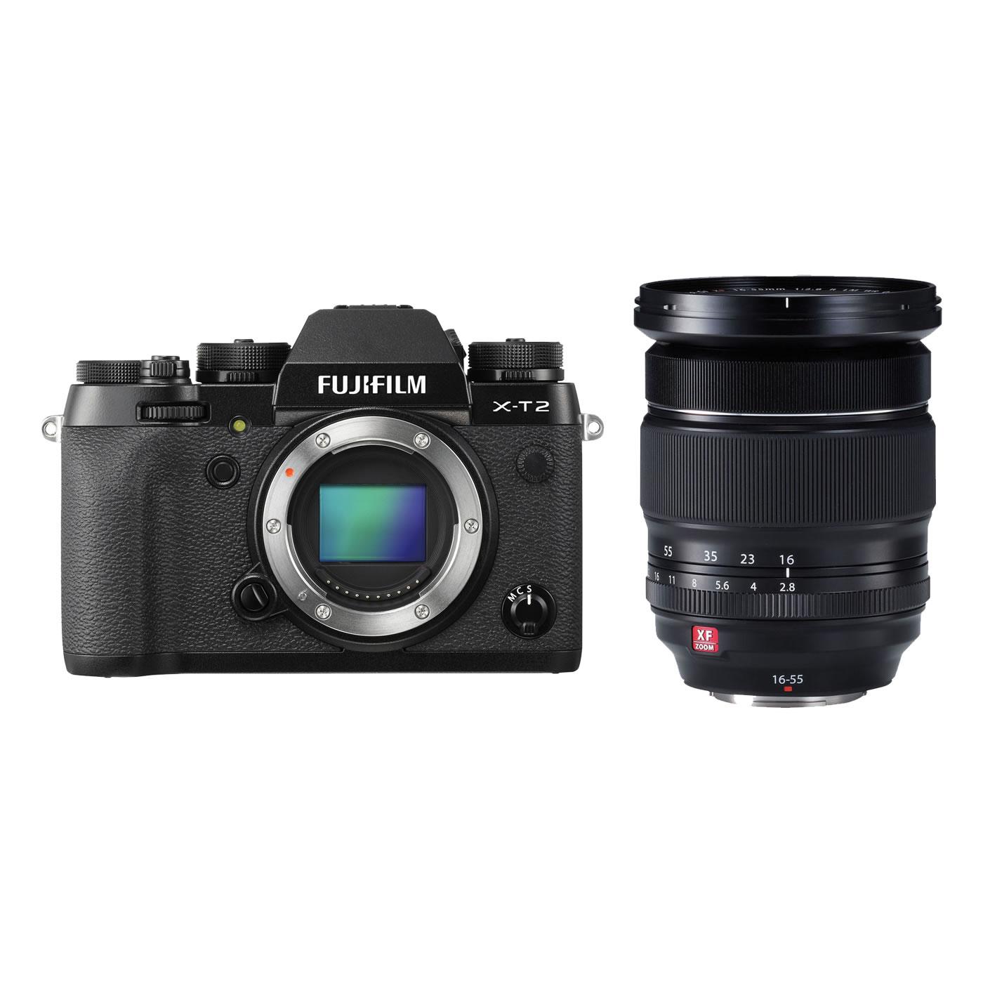 Fujifilm X T2 Kit Schwarz Xf 16 55mm F28 R Lm Wr D10902 Lecuit Body Black